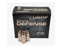Liberty Ammunition Civil Defense 50 gr CMHP .357 SIG Ammo, 20 Rounds/box - LACD357SIG053