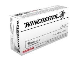 Winchester Ammunition 124 gr FMJ 9mm Ammo, 150 Rounds/box - USA9NATO