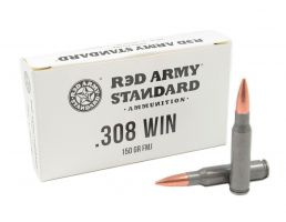 Red Army Standard 150 gr FMJ .308 Win Ammo, 20/box - AM3090