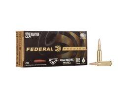 Federal Gold Medal 80.5 gr BBTT .224 Valkyrie Ammo, 20/pack - GM224VLKBH2