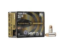 Federal 125 gr HSTJHP .357 SIG Ammo, 20/pack - P357SHST1S