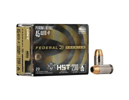 Federal Personal Defense 230 gr HSTJHP .45 Auto +P Ammo, 20/pack - P45HST1S