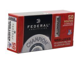 Federal Champion 9mm 115gr FMJ Ammunition, 50rd - CAL9115