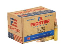 Hornady Frontier 55 gr FMJ .223 Rem Ammo, 50/box - FR1005
