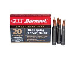 Barnaul Ammunition 168 gr SPBT .30-06 Spfld Ammo, 20/box - BRN3006SPRSPBT168