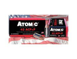 Atomic Ammunition Match 185 gr SW .45 ACP Ammo, 50/box - 448