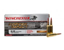 Winchester Expedition Big Game Long Range 160 gr Accubond 6.8 Western Ammunition, 20 Rounds