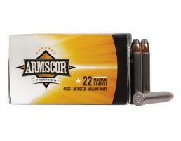 Armscor 22 Magnum 40gr JHP Ammunition 50rds - 50018PH