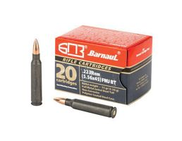 Barnaul  223 Remington Ammo 55 Grain, FMJ 20 Round Box, Steel Polycoated Case - BRN223REMFMJ55