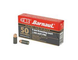 Barnaul  380 ACP, 94Gr, Full Metal Jacket, Steel Polycoated Case, 50 Round Box - BRN380AUTOFMJ94