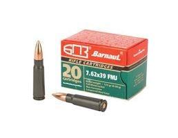 Barnaul  7.62x39 Ammo 123 Grain FMJ 20 Rd/Box, Steel Lacquered Case - BRN762X39FMJ123