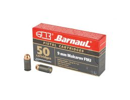 Barnaul 9MM Makarov Ammo 94Gr FMJ Steel Polycoated Case, 50 Rnd/Box - BRN9mmMakarovFMJ94