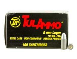 Tula 9x19mm 115gr FMJ Steel Cased Ammunition 100rds - TA919100
