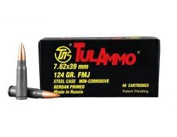 5.7x28mm Ammunition Tula 7.62x39mm 124gr FMJ Steel Case 40 Rounds Ammunition - UL076209