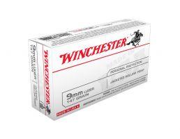 Winchester USA 9mm 147gr JHP Ammunition, 50 Round Box - USA9JHP2