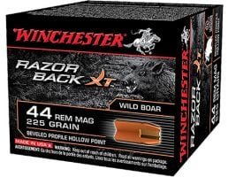 Winchester 44 Magnum 225gr RazorBackXT Ammunition 20rds - S44MWB