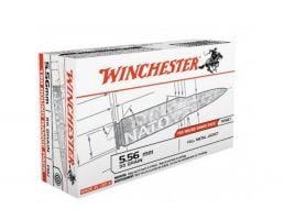 Winchester USA 5.56mm 55gr FMJ Ammunition, 180 Round Box - USA3131W
