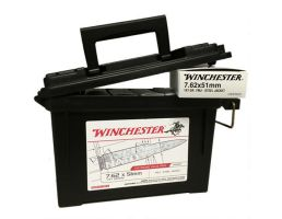 Winchester 7.62x51 NATO 147gr FMJ 120rds in Plastic Can-USA76251AC