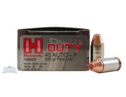 Hornady 45 Auto/ACP+P 220gr Critical Duty Ammunition 20rds - 90926