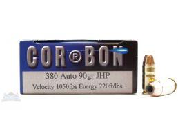 Cor-Bon 380 90gr JHP Ammunition 20rds - SD38090/20