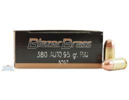 CCI Blazer Brass 380 Auto/ACP 95gr FMJ Ammunition 50rds - 5202