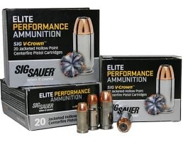 Sig Sauer 9mm 147gr JHP V-Crown Elite Performance Ammunition 20rds - E9MMA3-20