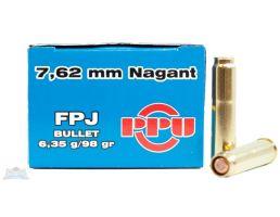PRVI Partizan 7.62 Nagant 98gr FPJ Ammunition 50rds - PP-R7.1