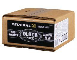 Federal 223 Rem 55gr FMJ-BT 300rd Black Bulk Box