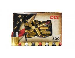CCI Patriot Pack .22 LR 40 Grain Red, White, and Blue Ammunition, 300 Rounds - 921RWB