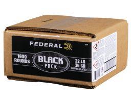 Federal .22 LR 36 gr Black Pack 1600 Rounds Ammunition - 788BF