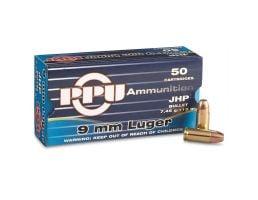 PRVI Partizan 9mm 115gr JHP 50 Rounds Ammunition - PPD91