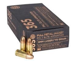 Sig 365 9mm 115gr FMJ Elite Ball Ammunition, 50 Rounds - E9MMB1-365-50