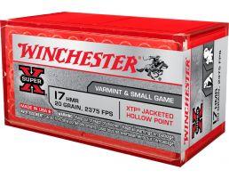 Winchester Super X .17 HMR 20 gr XTP 50 Rounds Ammunition - X17HMR1