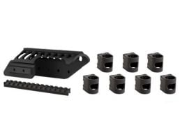 ATI Remington 870 12 Gauge Halo Side Saddle & Seven Piece Add-a-Shell Package - A.5.10.1006
