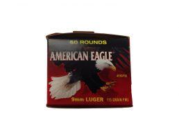 American Eagle 9mm 115gr Ammuniton 50rds  - AE9DP50
