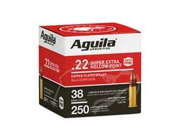 Aguila Standard High Velocity 36 gr HP .22 LR Ammunition 250 Rounds