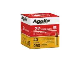 Aguila Super Extra 40 gr Copper Plated .22 LR Ammunition 250 Rounds