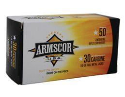 Armscor 30 Carbine 110gr FMJ Ammunition 50rds - FAC30C-1N