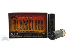 """Federal 12ga 3"""" 1.25oz BB Black Cloud Waterfowl Shotshells 25rds - PWB142 BB"""