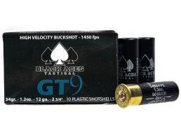 """Black Aces Tactical Premium 2.75"""" 00 Buckshot 12 Gauge Ammunition, 200 Rounds"""