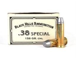 Black Hills 38 Special 158gr Conical Nose Lead Cowboy Ammunition 50rds - DCB38N1