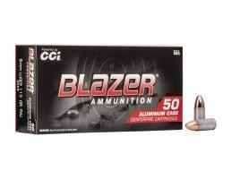 CCI Blazer 115gr FMJ Aluminum Case 9mm Ammunition 200 Rounds