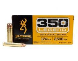Browning .350 Legend 124 gr FMJ 20 Rounds Ammunition