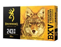 Browning BXV 65 gr Polymer Tip 243 Winchester Ammunition 20 Rounds