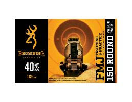 Browning Training & Pract. 165 Grain FMJ 40 S&W Ammo, 150rds - B191800405