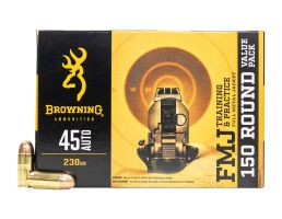 Browning Training And Practice 230 gr FMJ .45 ACP Ammunition 150 Rounds