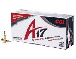 CCI .17 HMR 17gr A17 Varmint Tip Ammunition 200rds - 949