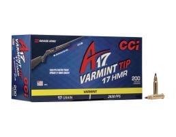 CCI A17 17 gr Tipped Varmint 17 HMR Ammunition 200 Rounds