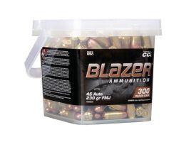 CCI Blazer Brass 230 gr FMJ .45 ACP Ammo 300 Round Bucket | PSA