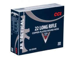 cci .22 long rifle 40 grain copper plated rn ar tactical ammo 300 rounds